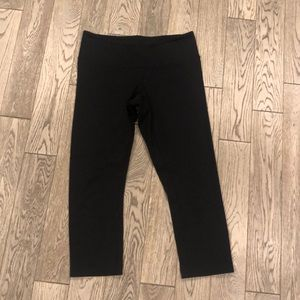 Lululemon Black Wonder Under Cropped Pants
